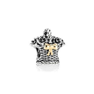 Pandora Forever Bloom Basket Charm Retired Authentic